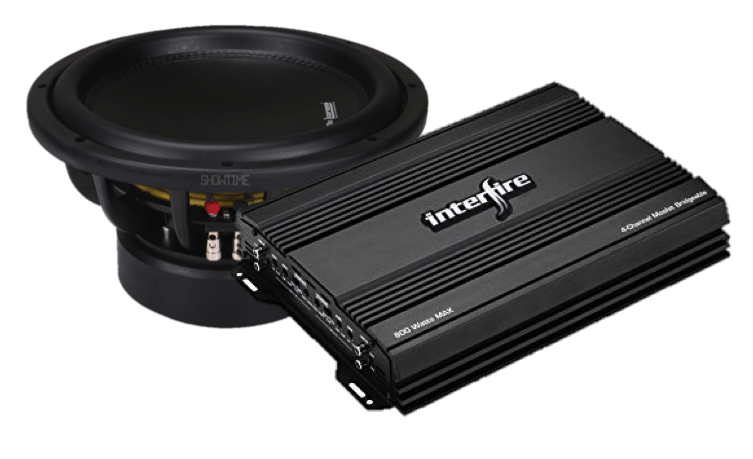 Car Subwoofer and 2 channel amplifier