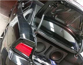 bass system in trunk