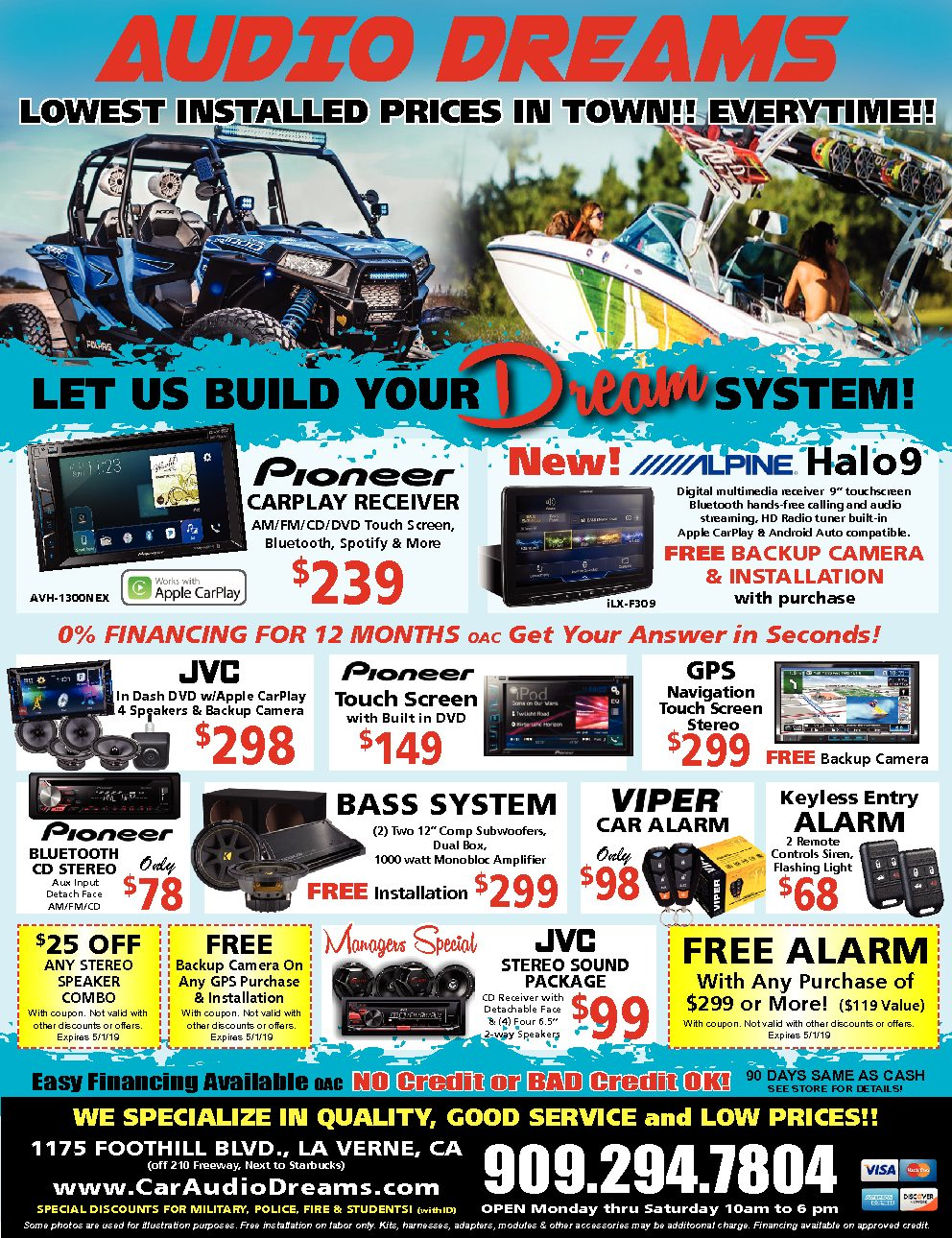 audio dreams weekly ad